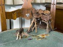 Stuk speelgoed dierlijke wolf Royalty-vrije Stock Foto's