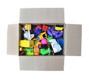 Stuk speelgoed in een doos Stock Foto