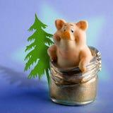 Stuk speelgoed een varken Stock Afbeelding