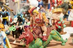 Stuk speelgoed en actiecijfer musuem Stock Foto's