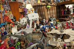 Stuk speelgoed en actiecijfer musuem Royalty-vrije Stock Foto's