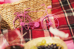 Stuk speelgoed fiets Stock Foto