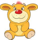 Stuk speelgoed geel konijntjesbeeldverhaal Royalty-vrije Stock Afbeeldingen