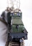 Stuk speelgoed groene trein Royalty-vrije Stock Afbeelding