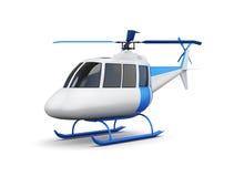 Stuk speelgoed helikopter op witte achtergrond wordt geïsoleerd die 3d geef image Stock Afbeeldingen