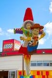 Stuk speelgoed het standbeeld van verhaallego Stock Fotografie