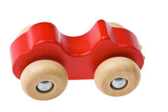 Stuk speelgoed houten auto Stock Afbeeldingen