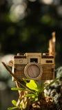 Stuk speelgoed houten camera Royalty-vrije Stock Foto's