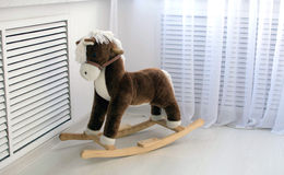 Stuk speelgoed - houten paard royalty-vrije stock foto's