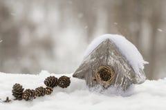 Stuk speelgoed huis voor vogels Royalty-vrije Stock Foto's