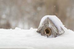 Stuk speelgoed huis voor vogels Royalty-vrije Stock Afbeelding