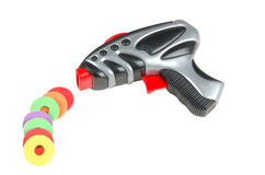 stuk speelgoed kanon met kogels Royalty-vrije Stock Afbeelding