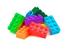 Stuk speelgoed kleurrijke plastic blokken Royalty-vrije Stock Afbeelding