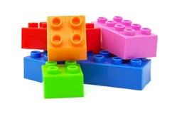 Stuk speelgoed kleurrijke plastic blokken Stock Afbeeldingen