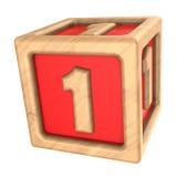 stuk speelgoed kubus 1 Royalty-vrije Stock Fotografie