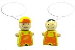 Stuk speelgoed met bespreking Stock Foto's