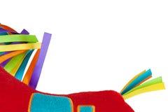 Stuk speelgoed met gekleurde linten Stock Foto's