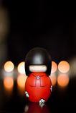 Stuk speelgoed met kaarsen royalty-vrije stock foto's