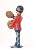 Stuk speelgoed militair met het bonzen van klankbekkens Royalty-vrije Stock Foto