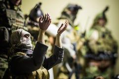 Stuk speelgoed militair zegen Royalty-vrije Stock Foto's