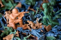 Stuk speelgoed militairen - wereldoorlog Stock Afbeelding