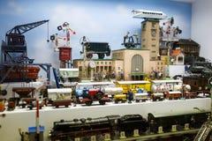 Stuk speelgoed museum in München Stock Afbeelding