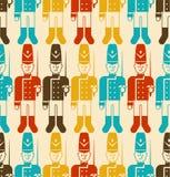 Stuk speelgoed naadloos militairpatroon Gardesoldaat plaything achtergrond Ve royalty-vrije illustratie