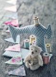 Stuk speelgoed naaimachine stock afbeelding