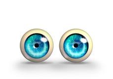 Stuk speelgoed ogen Vector Illustratie