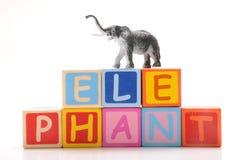Stuk speelgoed olifant Stock Afbeeldingen