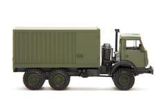 Stuk speelgoed oorlogsvrachtwagen Stock Afbeelding