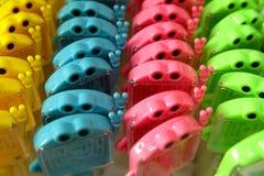 Stuk speelgoed op potlood stock afbeelding