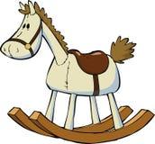 Stuk speelgoed paard Stock Foto