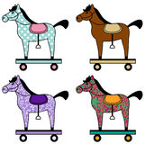 Stuk speelgoed paarden vector illustratie