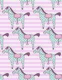 Stuk speelgoed paardenpatroon vector illustratie
