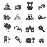 Stuk speelgoed pictogram Royalty-vrije Stock Foto's