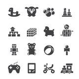 Stuk speelgoed pictogramreeks Royalty-vrije Stock Afbeeldingen