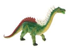 Stuk speelgoed plastic dinosaurus royalty-vrije stock afbeelding