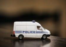 Stuk speelgoed politiebus Royalty-vrije Stock Afbeelding