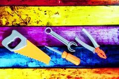 Stuk speelgoed reparatiehulpmiddelen Stock Afbeeldingen