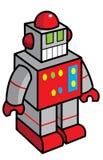 Stuk speelgoed robotillustratie Royalty-vrije Stock Afbeeldingen
