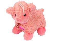 Stuk speelgoed schapen op een wit worden geïsoleerd dat Royalty-vrije Stock Afbeeldingen
