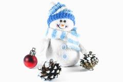Stuk speelgoed sneeuwman royalty-vrije stock afbeelding
