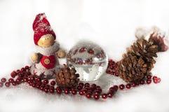 Stuk speelgoed sneeuwman Stock Foto