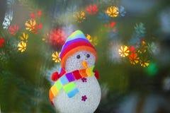 Stuk speelgoed sneeuwman stock afbeeldingen