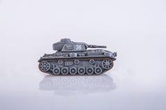 Stuk speelgoed tank Royalty-vrije Stock Foto's
