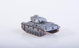 Stuk speelgoed tank Royalty-vrije Stock Foto
