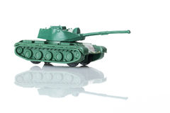 Stuk speelgoed tank zes Stock Afbeelding