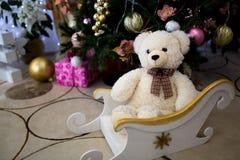 Stuk speelgoed teddybeer Stock Fotografie