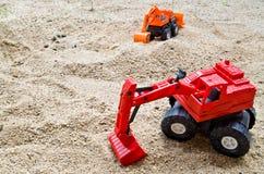 Stuk speelgoed tractor Royalty-vrije Stock Afbeelding